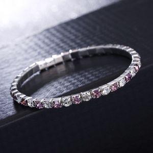 Jewelry - Amethyst & White Square Crystal Tennis Bracelet